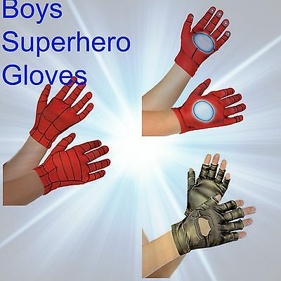Jungen Verkleidung Handschuhe Super Hero Tv Film Charaktere Halloween Kostüm (Superhelden Charakter Kostüme)