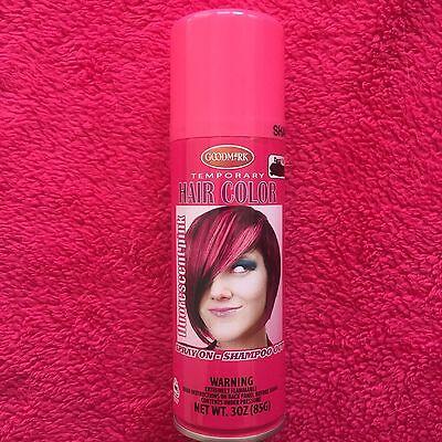 GOODMARK Temporary Flourescent Pink Spray On Shampoo Out Hair Color