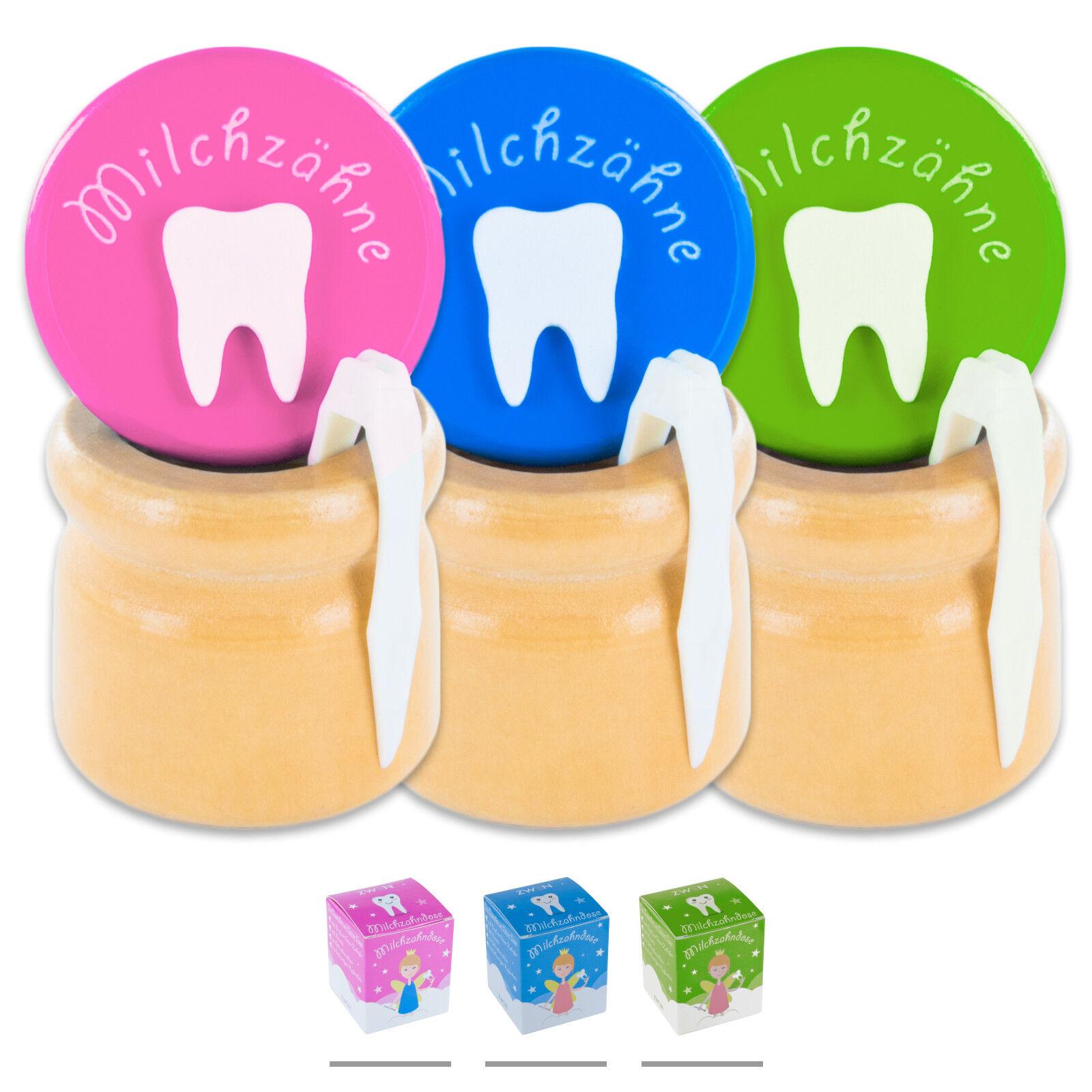 ZWEN Milchzahndose Milchzahnbox Zahndose für Kinder Jungen & Mädchen Milchzähne