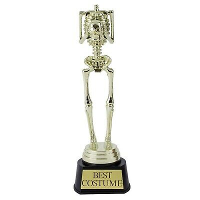 me Award Trophy Skeleton Statue award Fancy Dress Prize 24cm (Best Fancy Dress Halloween)
