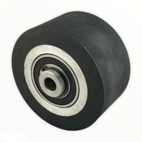 """4"""" Smooth Black Rubber Contact Wheel Dynamic Balance For Belt Grinder"""