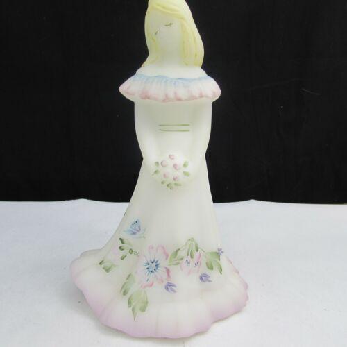 Fenton Opal Satin Floral Hand Painted Bridesmaid Doll A13