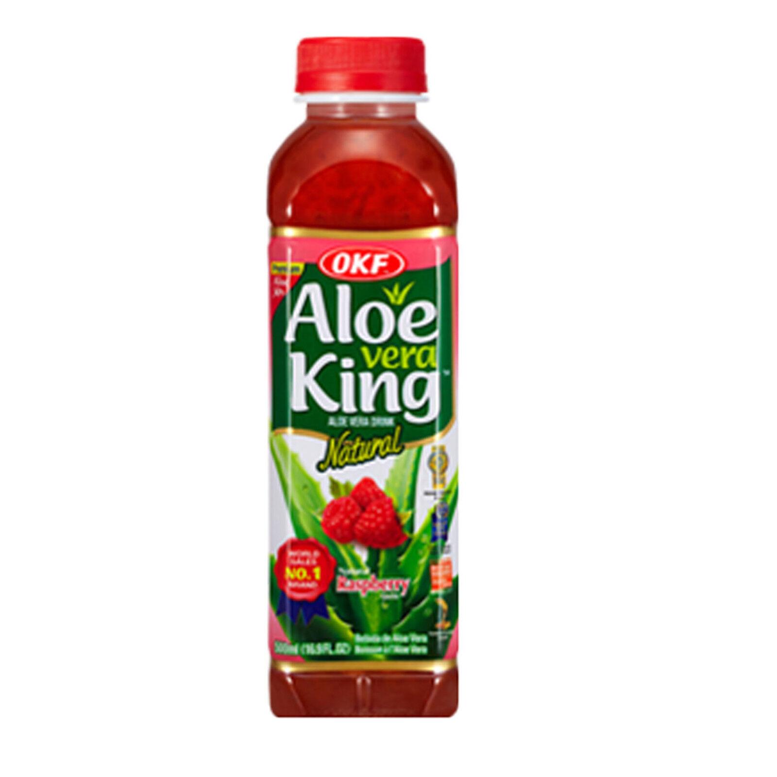 OKF Aloe Vera King Original 20 x 500ml Aloe Vera Getränk Drink Himbeere 10 L