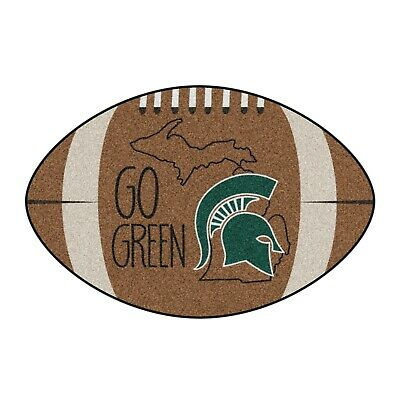 """Michigan State Spartans Southern Style 22"""" X 35"""" Football Shaped Area Rug"""