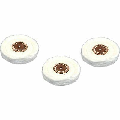 "Muslin Buffing Wheels 3"" 3Pcs Jewelers Jewelry Polishing Cle"