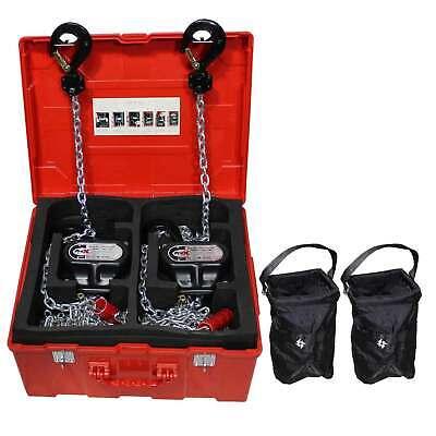 ProX XT-MCH1TX2-30FT Set of 2 1 ton Manual Chain  Hoists w 30