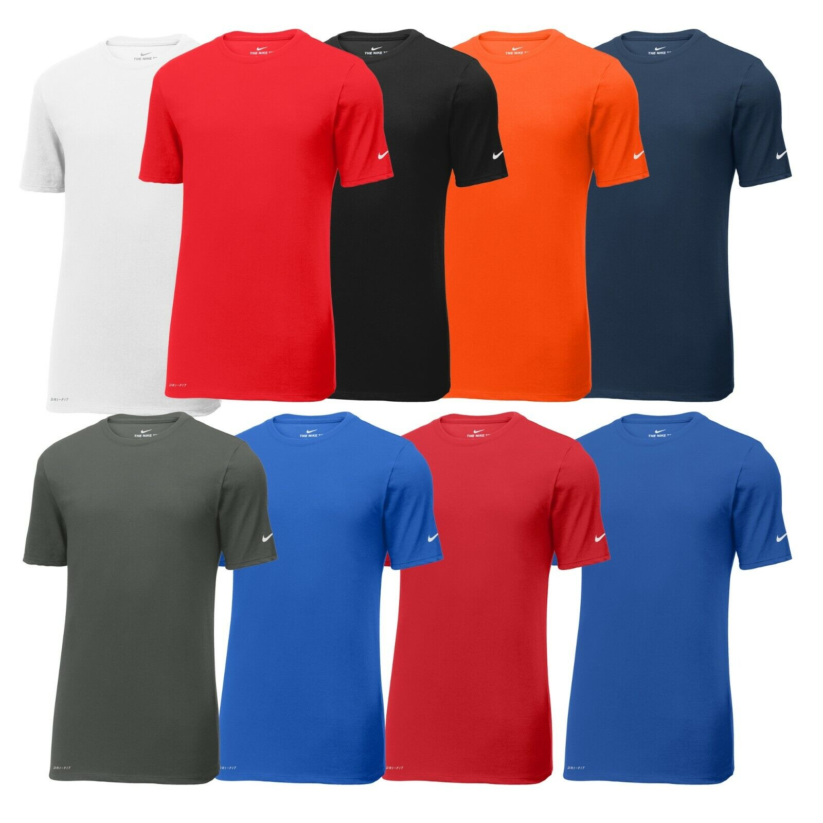 Nike Mens Dri-FIT Cotton Poly T-Shirt Short Sleeve Gym Workout Athletic Tee -New