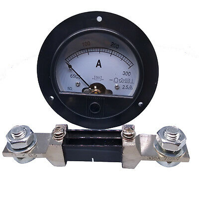 US Stock DC 0~300A Analog AMP Current Pointer Needle Panel Meter Ammeter & Shunt