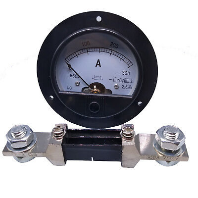 Us Stock Dc 0300a Analog Amp Current Pointer Needle Panel Meter Ammeter Shunt