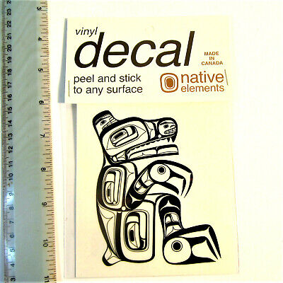 First Nation Native West Coast Haida Sitting Bear Vinyl Sticker Decal Indian Art for sale  Canada