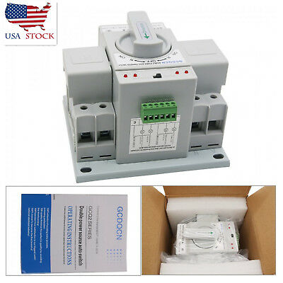 Dual Power Automatic Transfer Switch 2p 63a 220v 150138115mm Toggle Us Ship