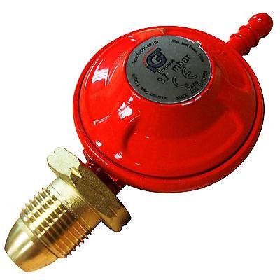 Compact Propane Gas Regulator Caravan Motorhome 37mbar - Fits Color Gas Bottles