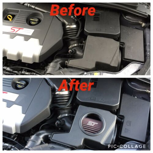 Ford Focus ST Mk3 RS Mk2 Custom Airbox Caja de filtro de aire Ventana Zetec Line Mountune