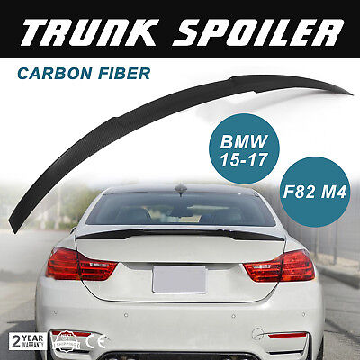New FOR 15-18 BMW F82 M4 COUPE PERFORMANCE CARBON FIBER SPOILER TRUNK LID 2Dr