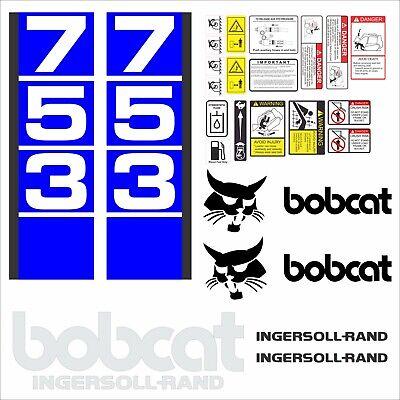 Bobcat 753 V3 Set Skid Steer Vinyl Decal Sticker - Aftermarket