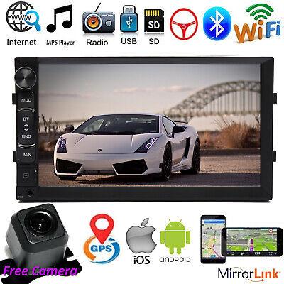 For Toyota Camry Corolla Prius 7'' 2Din Car Stereo Radio Wifi GPS USB Mirrorlink