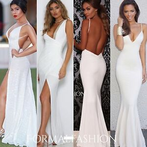 Formal Gowns Wedding Cocktail Mermaid Long Evening Prom Dress