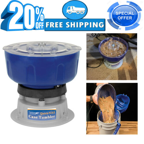 Frankford Arsenal Quick-N-EZ 110V Vibratory Case Tumbler for Cleaning