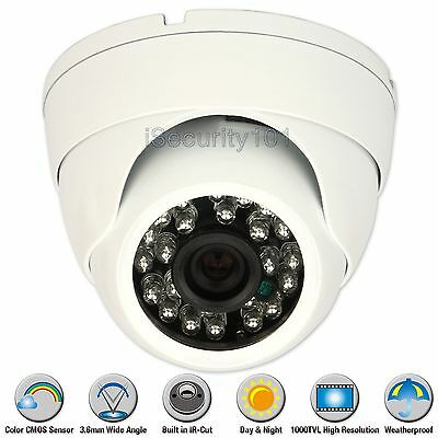 1000TVL 3.6mm Night Vision Metal IR Outdoor Indoor CCTV Security Dome Camera