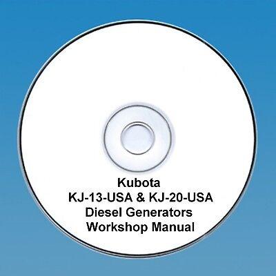 Kubota KJ-13-USA & KJ-20-USA Diesel Generators - Workshop manual