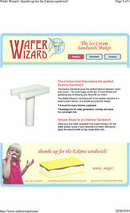 Ice Cream Sandwich Maker ( Wafer Wizard )
