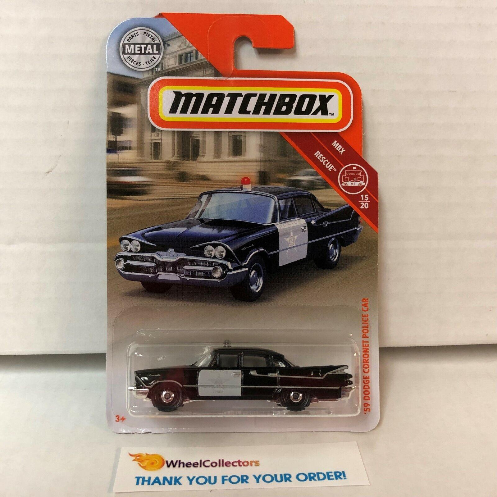/'59 Dodge Coronet Police Car E43 2019 Matchbox Case N Black
