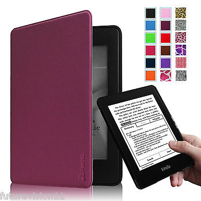 Auto Sleep Wake Leather Cover Case For Amazon All-New Kindle Paperwhite 6 inch