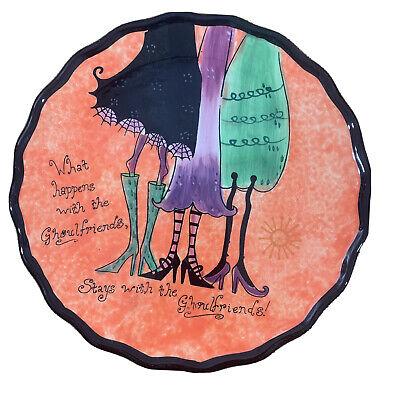 CERTIFIED INTERNATIONAL WENDY BENTLEY HALLOWEEN PLATE GHOULFRIENDS