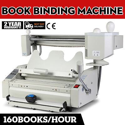 New Hot Melt Glue Book Binder Perfect Binding Machine- 110v