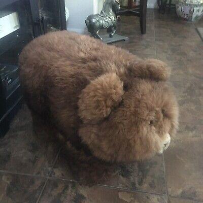Fluffy Adorable Brown Bear Foot Stool Sturdy Ottoman EUC - Local Pickup ()