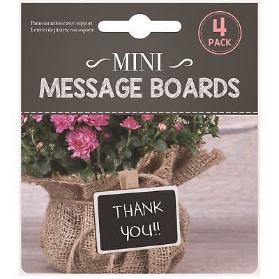 4 x Clip On Chalkboard Signs Labels Wedding Food Decoration Party Price Tag