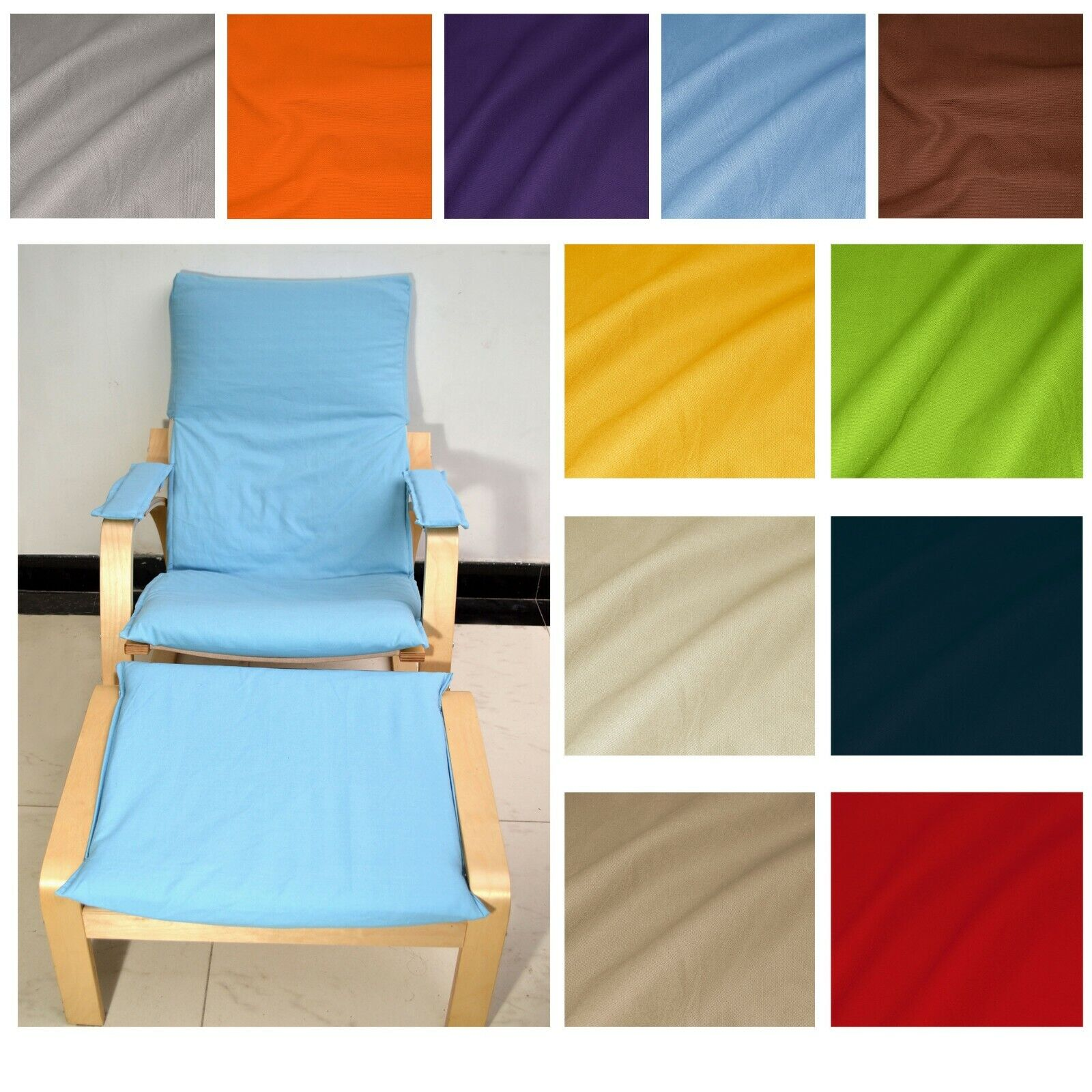 EXTRA PAD NO ZIPPER-Tailor Made For IKEA Poang Arm Chair*La