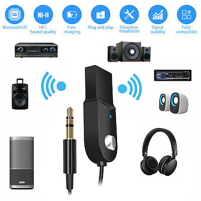 2 IN 1 Bluetooth Receiver & Transmitter Wireless RCA to 3.