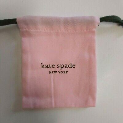 6 Pcs Kate Spade Dust Bag Jewelry Pouch Pink Green Drawstring New 3.5x4