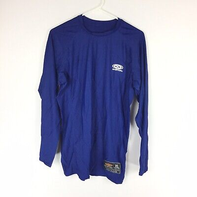 Easton Mens Size XL Long Sleeve Shirt Athletic Gear Team Collection Blue. FF