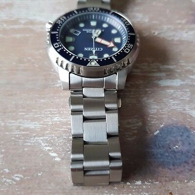 20mm CURVED STAINLESS STEEL OYSTER BRACELET FIT Citizen BN-0150 or BN-0151