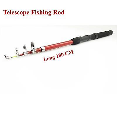 Telescopic Travel Spinning Rod Carbon Fiber 1.8 Mtr Fishing Pole