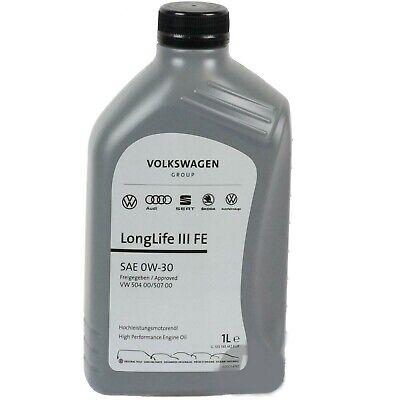 1/litro Olio/motore 0W30 Originale Volkswagen VW AUDI SEAT SKODA 504 00 507 00