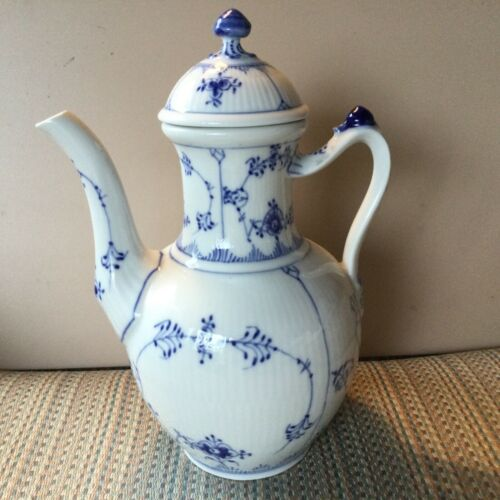 BLUE FLUTED - by ROYAL COPENHAGEN - COFFEE POT - NUMBER 48 -