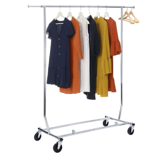 Clothing Garment Rack, Rolling Clothes Organizer on Wheels for Hanging Clothes Closet Organizers