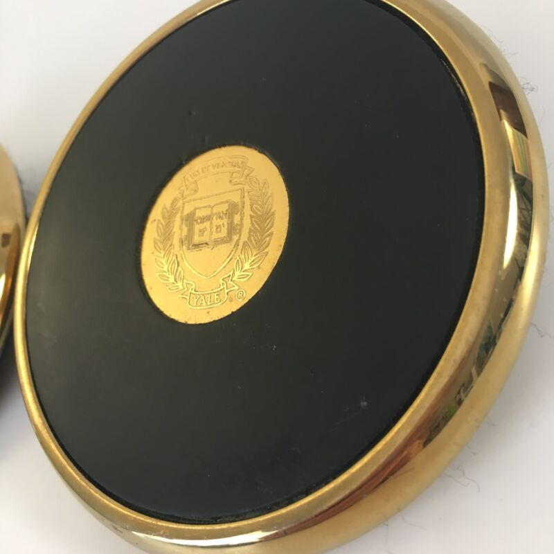 Yale Brass Drink Coasters Premium Crest