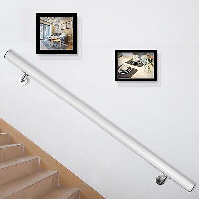 Pasamanos de Escaleras Barandilla de Aluminio de Escaleras 122 cm Blanca
