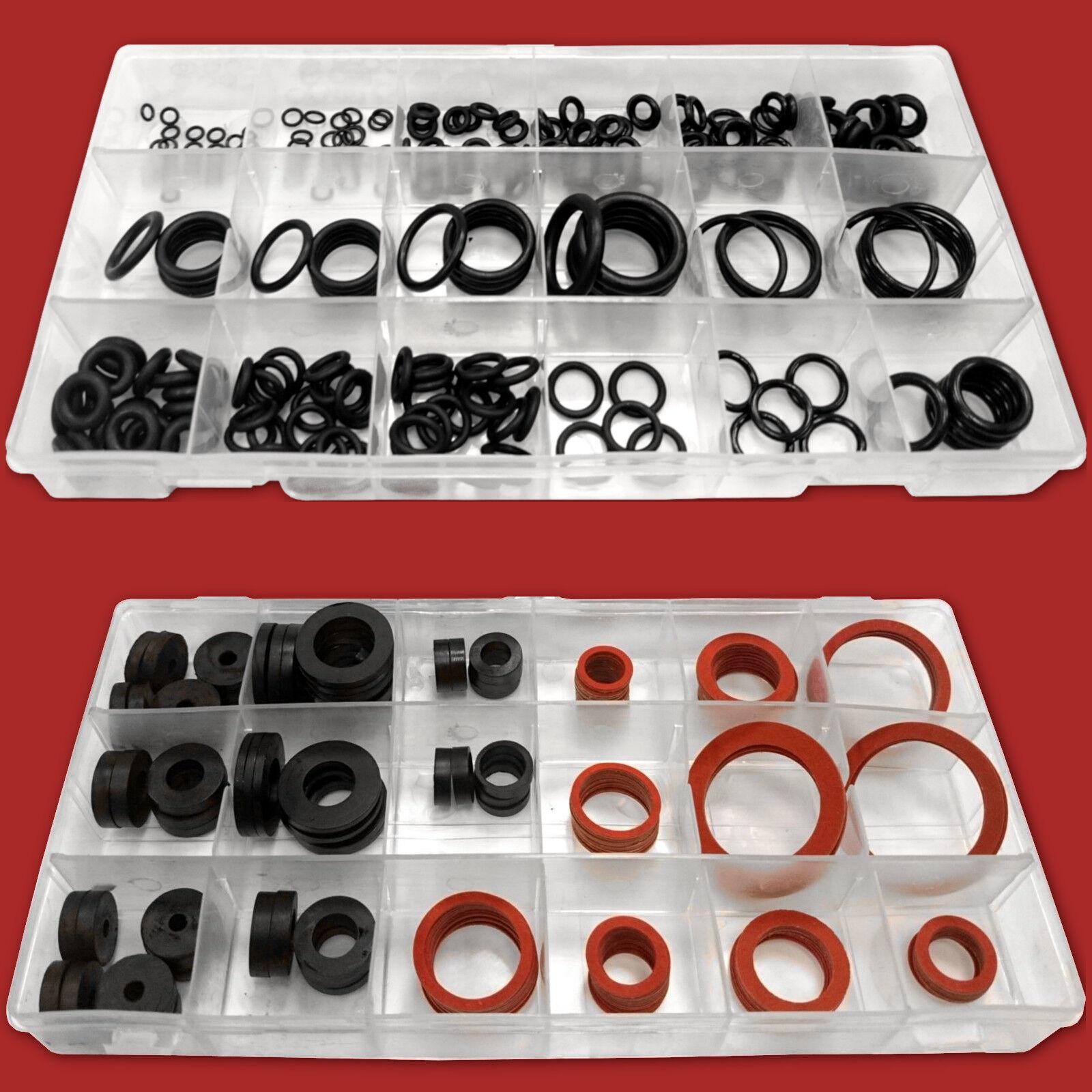 366-tlg. Sanitär-Dichtungen & O-Ring-Sortiment Dichtungsringe Gummi-Dichtung Set