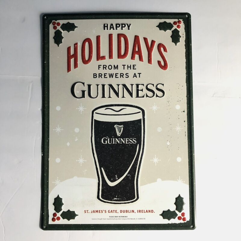 """Guiness Happy Holidays Tin sign-20""""by 14"""""""