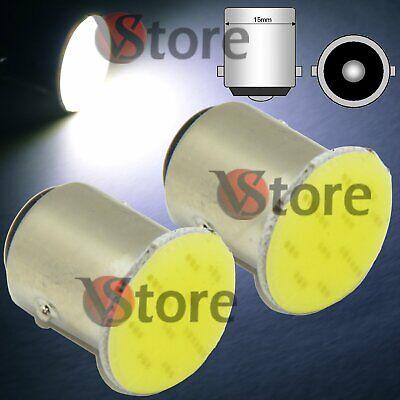 2 Led Luce Freno P21w Ba15s - S25 Cob Led Bianco 12v Retromarcia Stop 1156
