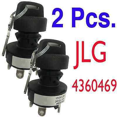 2 X Jlg Part 4360469 - New Jlg Ignition Key Switch Quantity Of 2