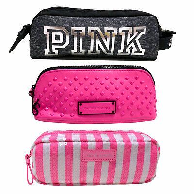 Victoria's Secret Makeup Bag Pouch Cosmetic Pencil Case Pink Travel Vs New Nwot ()