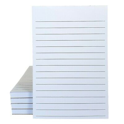 4 X 6 Lined Notepads - 60 Opaque Paper - 60 Sheets Per Pad 5 Pack