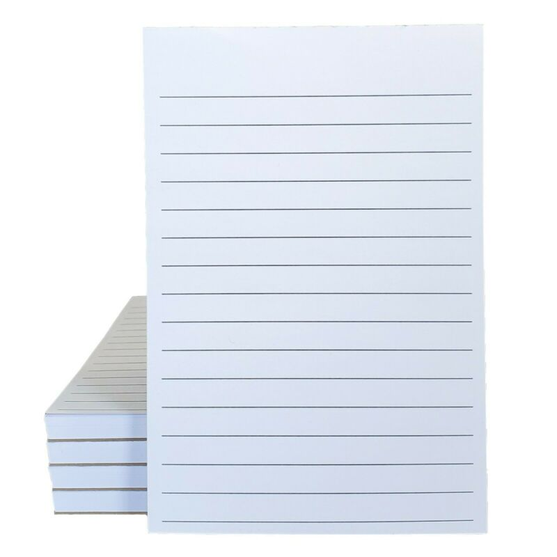 4 x 6 Lined Notepads - 60# opaque paper - 60 sheets per pad (5 pack)