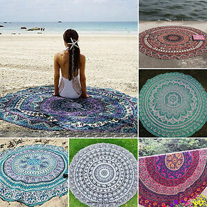 mandala tapis de mur d co rond roundie plage serviette de toilette foulard ebay. Black Bedroom Furniture Sets. Home Design Ideas
